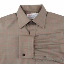 TURNBULL & ASSER Brown Plaid Check SEA ISLAND COTTON Luxury Dress Shirt - 16