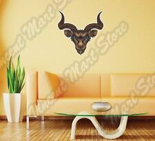 "Goat Ox Africa Wild Animal Antelope Horn Wall Sticker Room Interior Decor 22"""