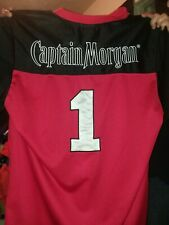 Captain Morgan Football Jersey Number 1 Red Mens Size XL Rum