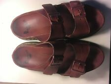 DR MARTENS BURGUNDY LEATHER MEN SANDALS GENTLY WORN SEE PICTURES SIZE 8 EU 42