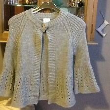 Next grey chunky knitted cardigan S