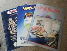 Marillion 3 x Rare Rock Concert Tour Programmes Fugazi 1984 1986 Fish Rock 80s