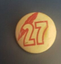 M L B 27 Red Feather Pinback 1930's