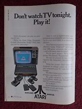 1978 Print Ad Atari Video Game Computer System ~ Don't Watch TV Tonight. Play It