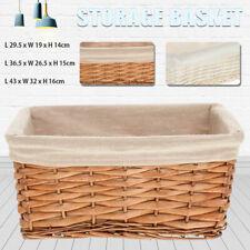 3 Size Natural Plant Branch Woven Storage Basket Storage Organizer Box Removable