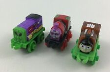 "Mini Thomas and Friends Alien Football Train Toys 3pc Lot 2"" Miniature Mattel D"