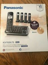 PANASONIC KX-TGE675 HD Link2Cell Cordless Telephone w/Digital Answering 5 HANDSE