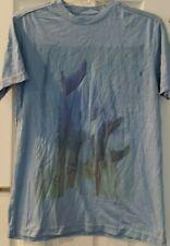Mens Shirt Sz S Small Quiksilver Light Blue Surfboards