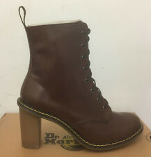 DR. MARTENS SADIE DARK BROWN PALATINO   LEATHER  BOOTS SIZE UK 9