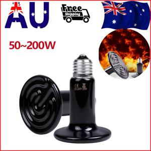 1PC 50~200W Ceramic Infrared Light Heat Emitter Lamp Reptile Brooder Incubator