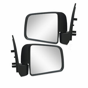Door Mirrors PAIR Black Manual Fits Mazda B Series Ute B2500 B2600 1999-2006