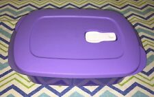 Tupperware Divided Rectangle Microwave Dish Lilac 4 Cups New