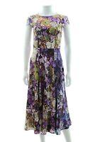 Mary Katrantzou Satin-Silk Leaf Print Dress / Multi / RRP: £1,890.00
