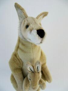 "Hansa Kangaroo Red Kanga & Baby Handcrafted Plush Collectible 17"""