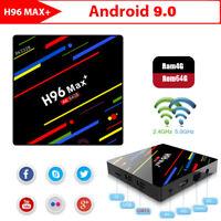 H96 MAX+ Smart TV BOX Android 9.0 OS 4GB RAM 32/64GB Quad Core 1080p 4K 2.4G/5G