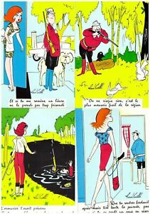 S27449) N.4 Comics French Post Cards