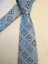 CIRO CITTERIO PADDED BLUE GOLD DIAMOND 4 INCH POLYESTER NECK TIE
