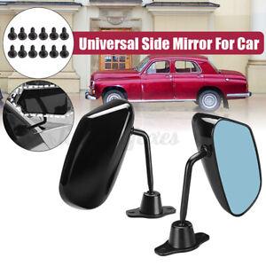 Pair Glossy Black Racing Mirror F1 Type Kit Car Side Wing Mirrors Universal UK