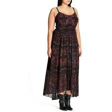 City Chic Aztec Warrior Plus Size Maxi Dress UK Size 18 TD075 HH 02