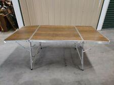 Korea Meal Rice Retro Vintage Folding Dining Table Aluminum Silver Legs Camping