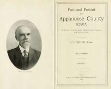 1913 APPANOOSE County Iowa IA, History and Genealogy Ancestry Family DVD B38