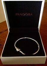 "AUTHENTIC PANDORA NEW BARREL CLASP BRACELET 590702HV S 925   ALE 7.9"" 20 Cm"