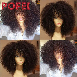 Afro Kinky Curl Brazilian Remy Human Hair Full Lace/Lace Front Wig 150% Density