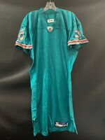 MIAMI DOLPHINS GAME USED REEBOK BLANK ON FIELD AQUA QB JERSEY SIZE 46 YEAR 2010