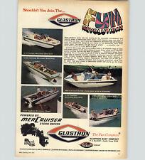 1970 PAPER AD Glastron Motor Boat Swinger Caribbean Vegabond Gulfcruiser Fundeck