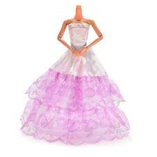 1 Pcs Long Veil Trailing Skirt for Barbies Fashion Wedding Dress Doll L12 2L9 AL