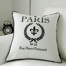 "Fashion White Paris Throw Pillow Case Decorative Cushion Cover Sham 18"" x 18"""