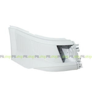 VOLVO VNL 2016-UP PAINTED WHITE CORNER BUMPER RIGHT SIDE WITH FOG LIGHT CUT-OUT