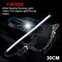 2PCS Car 12V Sequential LED Strip Turn Signal Switchback DRL Indicator Light Hot