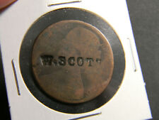Great Britain 1861 Penny Counterstamp W Scott (01165)