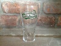 Set of 2 Carlsberg Pint Glasses. Brand New. Nice gift or Collectors Item.