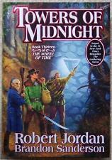 TOWERS OF MIDNIGHT ~ WHEEL OF TIME #13 ~ ROBERT JORDAN ~ 1st PRINT HC ~ SIGNED