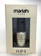 LIMITED- OPI - MARIAH CAREY Holiday 2013 PURE 18k White Gold & Silver Top coat