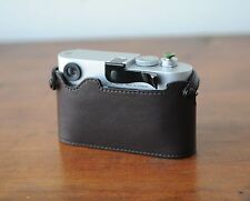 Zhou Brown Leather Half Case w/o LCD CutOut f/ Leica M8 M9 M9P w/ Thumbs Up Grip