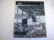 John Deere 550H Crawler Dozer Black & White Brochure
