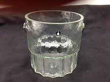 Schöner Eiskübel Eiswürfelbehälter Glas Pukeberg Schweden 60er 70er Design Ice