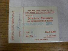 02/02/1985 Ticket: West Ham United v Newcastle United [Directors Enclosure] (Com