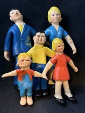 Italy All Rubber Doll Family Rare Vintage 4-8� Therapy Dolls ? Italian 1:8 Scale