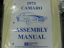 1973 73 CAMARO (ALL MODELS) ASSEMBLY MANUAL
