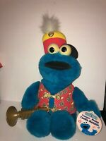 "Vintage NEW Tyco Avon Sesame Street Trumpet Playing Cookie Monster 16"" Plush Toy"