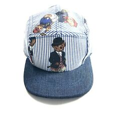 Vintage Retro Polo Bear Polo Ralph Lauren 5 Panel Cap (Handmade/Upcycled)