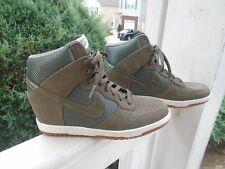 New Women's Nike Dunk Sky Hi Hidden Wedge Desert Camo Sneakers 579763-300 Size 9