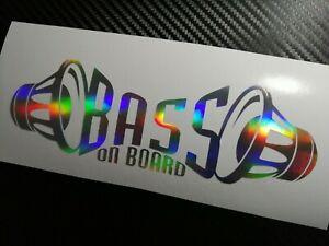 Oil Slick BASS on board Car Sticker Decal Graphic VDUB JDM ICE SPL Subwoofer