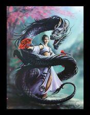 3d CUADRO CON DRAGÓN - DRAGON Bailarina - Anne Stokes Fantasy Impresión Lienzo