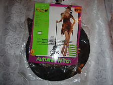WOMAN'S AUTUMN WITCH HALLOWEEN COSTUME-UP TO SIZE 12-NEW WITH TAGS