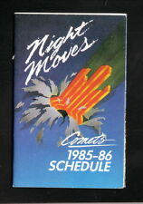 1985-86 Kansas City Comets Schedule--Coors